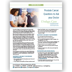 Questions to ask your Dr. at Prostate Cancer Diagnosis