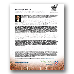 Survivor story of Paul Schellhammer, MD – Former AUA President (2007 – 2008)
