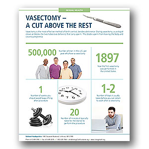 Vasectomy A Cut Above the Rest Infographic