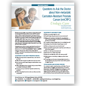 Questions ask a Doctor about Non-Metastatic Prostate Cancer