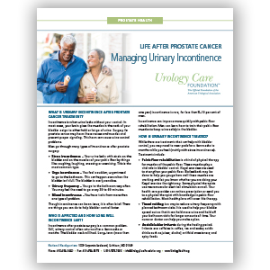 Educational materials urology care foundation life after prostate cancer managing urinary incontinence fandeluxe Image collections