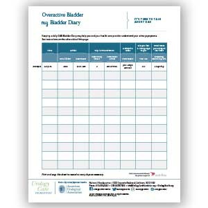 Urology Care Foundation Bladder Diary
