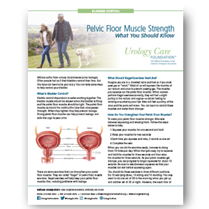 Bladder Control (Strengthening Your Pelvic Floor Muscles)