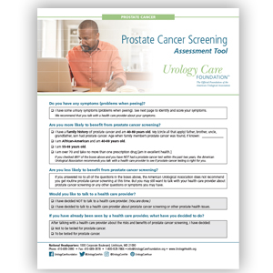 Prostate Cancer Screening Checklist (English)