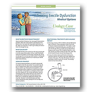 Erectile Dysfunction: Medical Options