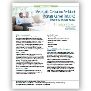mCRPC – What You Should Know: Prostate Cancer Fact Sheet