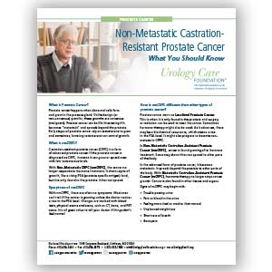 nmCRPC – What You Should Know: Prostate Cancer Fact Sheet