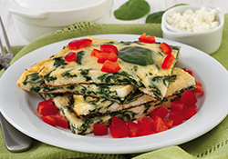 Spinach and Red Pepper Omelette