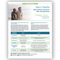 African American Men's Health Fact Sheet