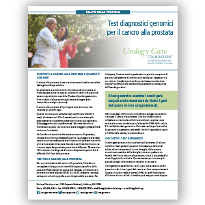 Italian Genomic Testing for Prostate Cancer