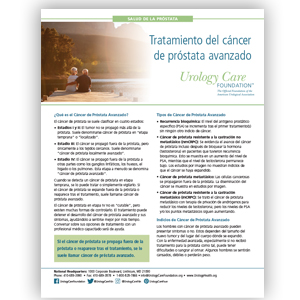 Spanish Advanced Prostate Cancer Treatment Options