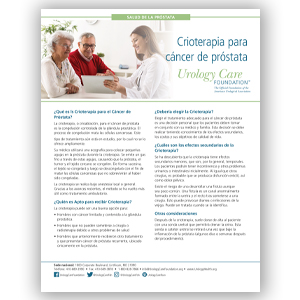 Spanish Cyrotherapy for Prostate Cancer