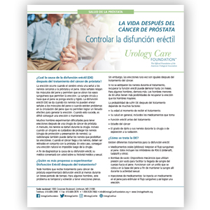 Spanish Life After Prostate Cancer Managing ED