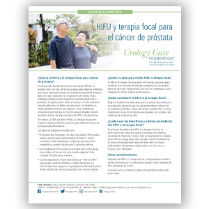Spanish HIFU and Focal Therapy for Prostate Cancer