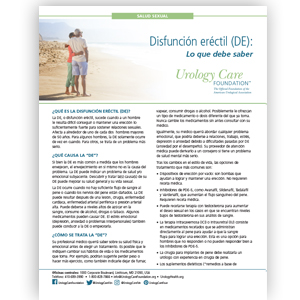 Spanish Erectile Dysfunction Fact Sheet