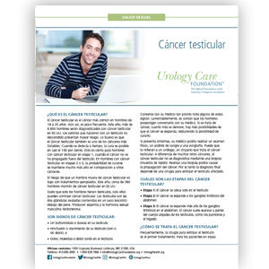 Spanish Testicular Cancer Fact Sheet
