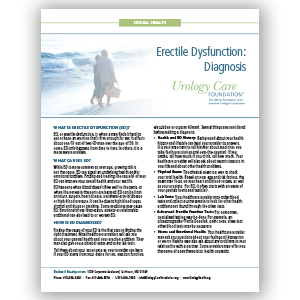 Erectile Dysfunction - Diagnosis