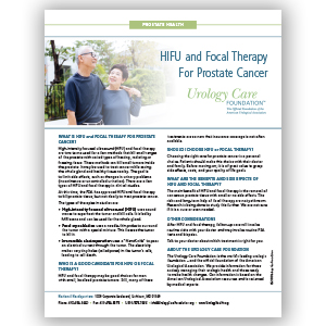 HIFU and Focal Therapy for Prostate Cancer