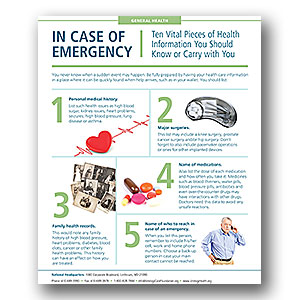Emergency Health Infographic