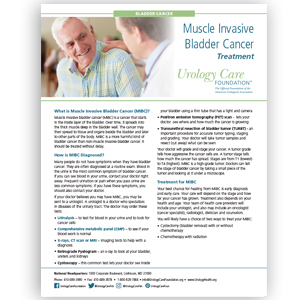 Muscle Invasive Bladder Cancer - Diagnosing and Treating