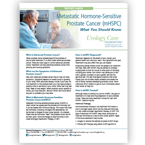 Metastatic Hormone-Sensitive Prostate Cancer