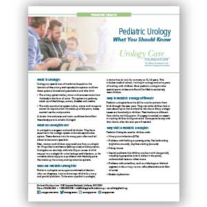 Pediatric Urology - What You Need to Know