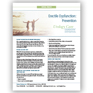 Erectile Dysfunction - Prevention