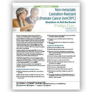Non-Metastatic CRPC - For Patients