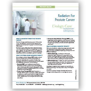 Radiation for Prostate Cancer