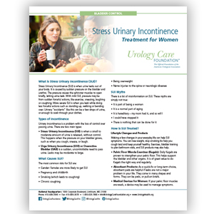 Incontinence - Treating Stress Urinary Incontinence in Women