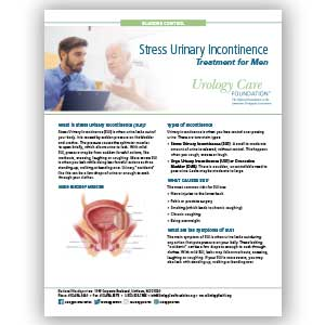 Incontinence - Treating Stress Urinary Incontinence in Men