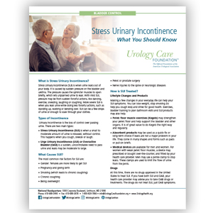 Incontinence - Stress Urinary Incontinence, What You Should Know