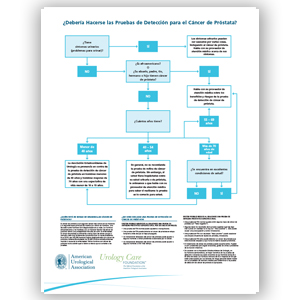 Should You Be Screened for Prostate Cancer? Wall Chart Spanish version