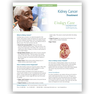 Kidney Cancer - Diagnosing and Treating